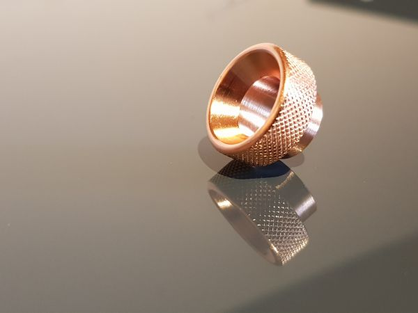 Copper knurled