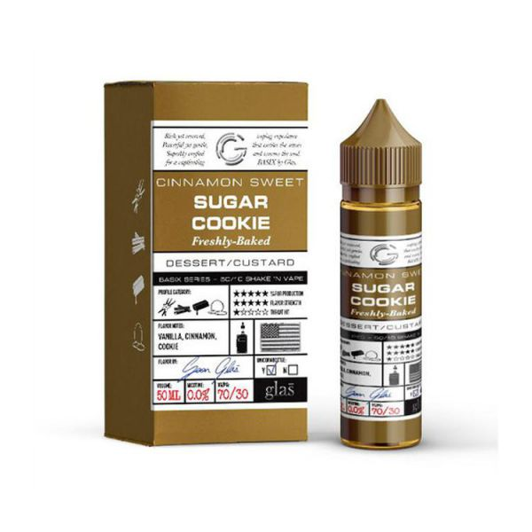 Glas Basix - Sugar Cookie - QuickNic Ready 50ML - 70/30 - 0mg