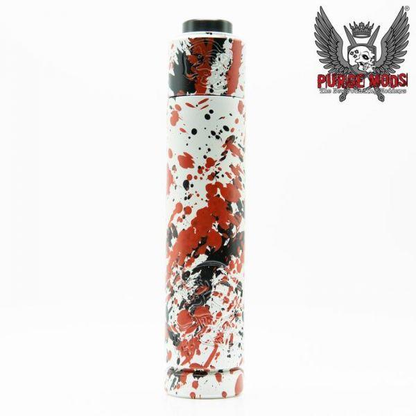 Purge - Back to Basics V4 (B2BV4) & Skull Cap mit Carnage Deck - White Black Red Splatter