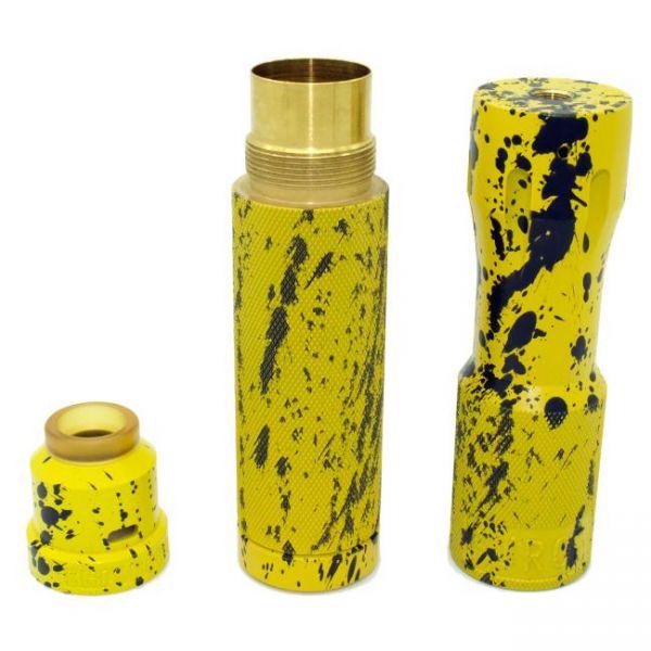 Limited Purge Enforcer - Yellow Black Splatter - inkl. Stack & Cap