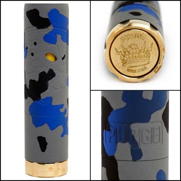 Purge Skull - Camo Edition - blue/brass - 18650