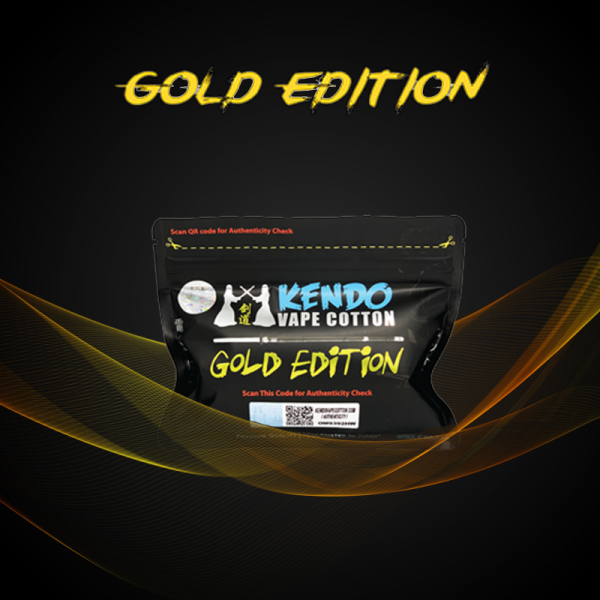 Kendo Vape Cotton Gold Edition / +20% Aktionspack